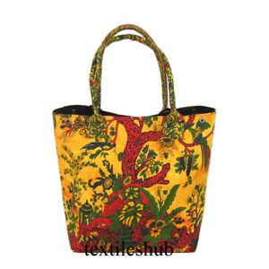 New Cotton Handmade Women's Shopping Purse Handbags Indian Mandala Shoulder Bags