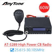 AnyTone AT-5289 AM FM 30HZ to 3KHZ 60DB CB Radio Transceiver Key Programming New