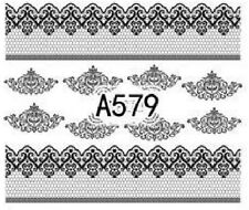 Nail Art Decals Transfers Stickers Lace Pattern (A-579)