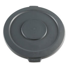 Boardwalk Lids for 32-Gal Waste Receptacle Flat-Top Round Plastic Gray