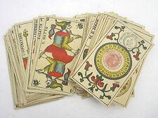 Original Antique 1895 Convor Marseille Tarot Cards Piedmont Italy A. Viassone