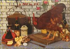 CARTE POSTALE RECETTE DE CUISINE EMILIE BERNARD N° 28 COQ AU VIN