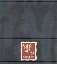 Norway Sc 171(Mi 185)*Vf Nh 1937 25 O Red Brown $90