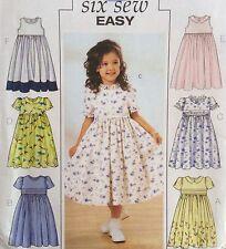 Easy Childrens Dress Pattern Butterick 3762 Uncut Size 2-5 Flower Girl 6 Styles