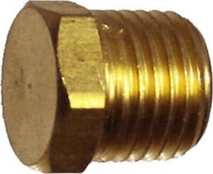 1/2 Inch NPT End Plug Brass