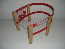 Schlittenlehne Rodellehne aus hochwertigem Holz und Kunststoff rot