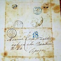 LOT DE 31 LETTRES MANUSCRITES. TIMBRES ET TAMPONS ORIGINAUX. FRANCE. C.1850