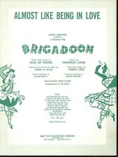 Almost Like Being In Love Sheet Music Piano Voice Guitar 1947 Brigadoon Lerner