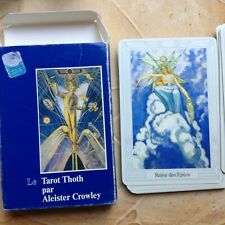 tarot TOTH de,A.CROWLEY ,jeu complet,cartes impécables.(boite usagée).