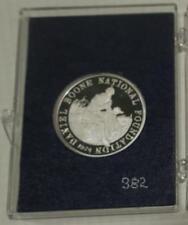 1974 Daniel Boone Homestead Fine Bright Silver Medal,DB with Dog,1734 Birthplace