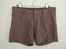PATAGONIA Womens Shorts  Hiking Brown Zipper Front Size 4
