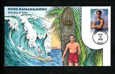 US FDC #3660 Collins HP Hand Painted 2002 Honolulu HI Duke Kahanamoku Surfer