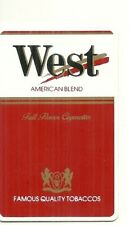RARE / CARTE TELEPHONIQUE - WEST : CIGARETTE TABAC /PHONECARD TELEPHONE CARD