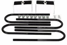"""3"""" Aluminum Leaf Spring Lift / Lowering Blocks w/ U-Bolts 2 Degree Taper"""