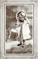 1911 Our Little Dairy Maid Little Girl with Milk Pail Postcard BX