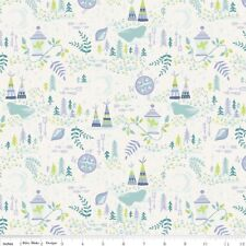 Riley Blake Neverland Peter Pan Cream Forest Fabric FQ or More 100% Cotton