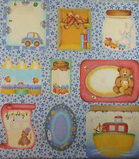 Cotton Quilt Sewing Fabric Baby Panel Bears Bunnies Cars  Boats Fish - 1 yd.