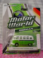 2014 GL German Ed VOLKSWAGEN SAMBA BUS✰Green & White VW~Greenlight Series 11✰S11