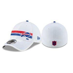 Buffalo Bills NFL New Era Polar Flex 39THIRTY Hat Cap White Football Men's M/L