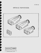 Graflex Optical Viewfinder Service & Repair + Standard Hardware Parts Listing