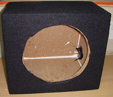 "8"" SEALED CAR SUBWOOFER ENCLOSURE SUB BASS BOX EMPTY MDF BLACK CARPET"