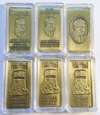"""NED KELLY"" Set Of 3 x 10grm Ingots HGE 999 Gold Antique Look Limited To 2,500"