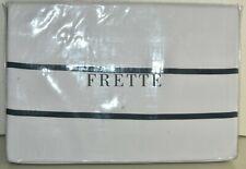 $950 New Frette Marina Duvet Cover Textured Cotton White Blue King