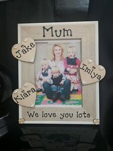 Personalised Mum and Daughter Photo Picture Frame. Best Friends. Any Wording..