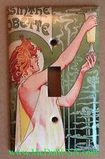 Art Nouveau Absinthe Light Switch Duplex Outlet wall Cover Plate Home Decor