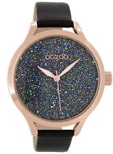 OOZOO Damen armbanduhr roségold/schwarz 43 mm C9128