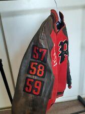 Polo Ralph Lauren letterman varsity leather jacket M