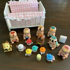Lot Of Tomy Toys Baby Doll Crib Lion Accessories Bottles 7 Dolls