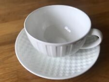 Wedgwood Night and Day fluted Tea cup & checkerboard saucer