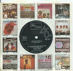 Gladys Knight & Pips:Take me in your arms and love me:UK Tamla Motown:TMG 604