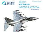 Quinta QD48157 1/48 Yak-130 3D-Printed  coloured Interior for KittyHawk kit