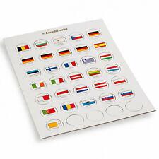 LEUCHTTURM EURO Flaggen-Chips 26 mm für 2 Euro Münzen, verkapselt oder lose