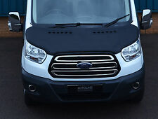 BLACK FRONT BONNET BRA / PROTECTOR FULL FOR FORD TRANSIT 2014+ MK8