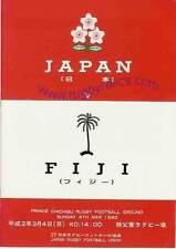 JAPAN v FIJI 4 Mar 1990 RUGBY PROGRAMME at TOKYO