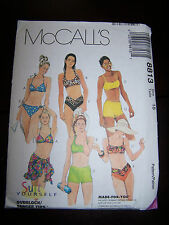 McCALL'S SUIT TWO PIECE YOURSELF MADE FOR YOU SZ 18 PATTERN 8813 SWIMSUIT