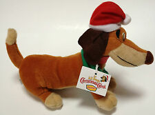 1998 Denny's Itchy All Dogs Christmas Carol Been Bag Plush Stuffed Animal W/ Tag