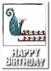 Birthday Card -  Mad and Rad Range - Greedy Cat -PB12