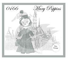 "Riproduzione VINTAGE WALT DISNEY Mary Poppins 24 ""BAMBOLA cucito PATTERN"