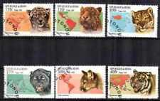 Animaux Félins Bénin (13) série complète 6 timbres oblitérés