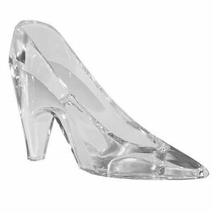 "Cinderella ""Glass Slipper"" Clear Plastic Princess Shoe Table/Cake Dec/Favour"