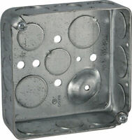 Raco  4 in. Square  Steel  2 gang Outlet Box  Gray