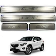 Fit 2012-16 Mazda Cx-5 Cx5 Maxx Suv Premium 4Door Scuff Plate Step Protect Trims