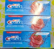3 Crest Kids Cavity Protection Fluoride Toothpaste Strawberry Rush