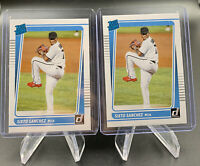2x 2021 Donruss Baseball Rated Rookie Sixto Sanchez Miami Marlins+ Topps