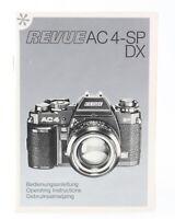 Bedienungsanleitung Revue AC 4-SP DX AC4SPDX A C 4 S P D X Gebrauchsanleitung