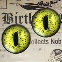 Green Reptile Eyes Realistic Glass Taxidermy Eyeball Set 16mm